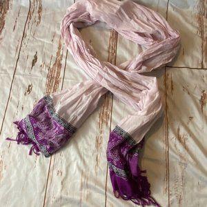 American Eagle cotton purple scarf